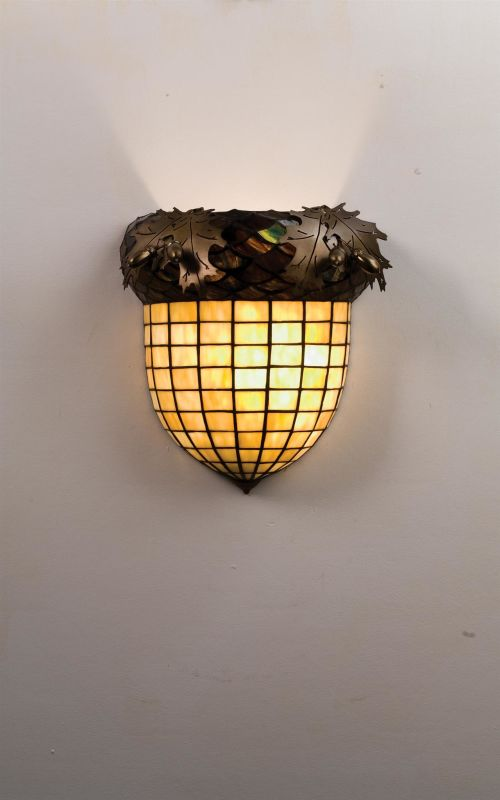 "Meyda Tiffany 51852 Acorn & Oak Leaves 12"" Wide Single Light Wall"