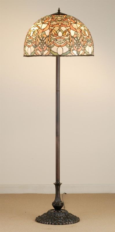 Meyda Tiffany 52182 Stained Glass / Tiffany Floor Lamp from the Scroll