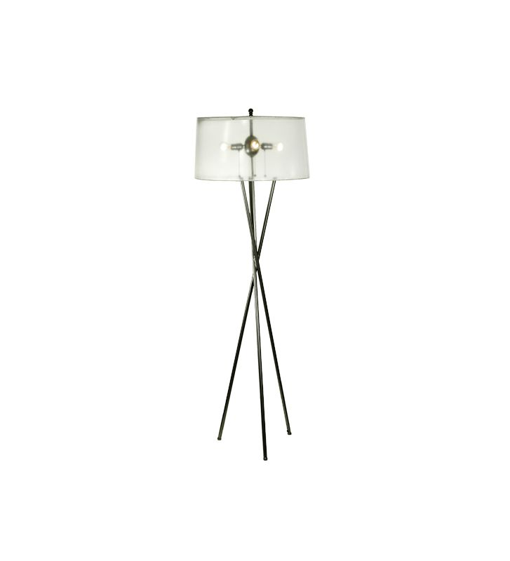 Meyda Tiffany 52403 Four Light Floor Lamp White / Bronze Lamps Tripod