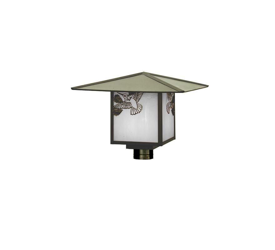 Meyda Tiffany 64980 Post Light Craftsman Brown Outdoor Lighting Post