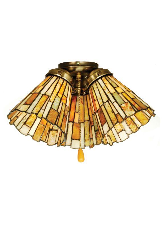 Meyda Tiffany 65093 Tiffany Fan Light Shade from the Jadestone