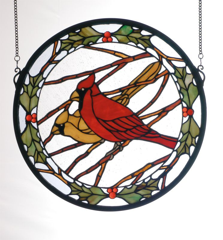Meyda Tiffany 65289 Stained Glass Tiffany Window from the Cardinals &