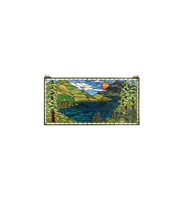 Meyda Tiffany 65497 Tiffany Rectangular Stained Glass Window from the