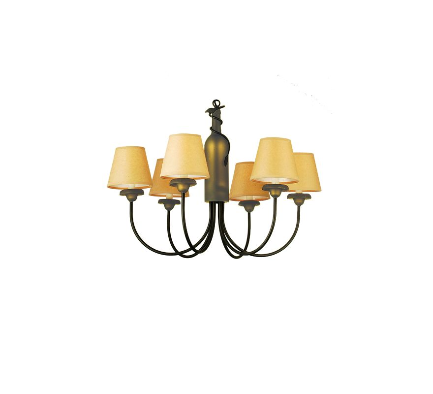 Meyda Tiffany 65545 Six Light Chandelier from the Wine Bottle Sale $1029.60 ITEM: bci625536 ID#:65545 UPC: 705696655458 :