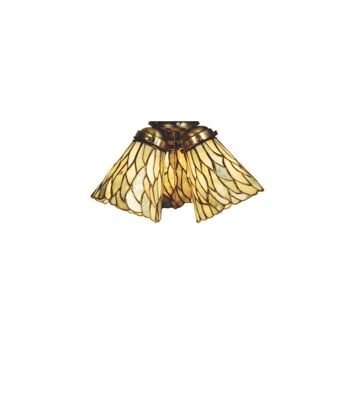 Meyda Tiffany 65623 Tiffany Willow Fan Light Shade from the Jadestone
