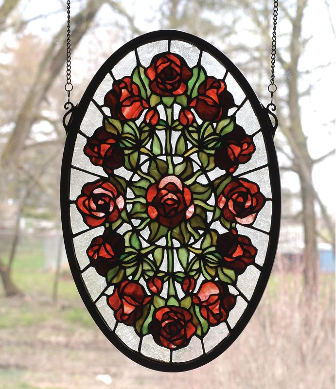 Meyda Tiffany 66005 Stained Glass Tiffany Window from the Red Roses