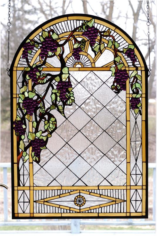 Meyda Tiffany 66048 Stained Glass Tiffany Window from the Jeweled