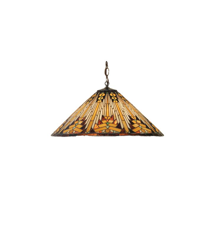 Meyda Tiffany 66227 Three Light Down Lighting Pendant from the Mission