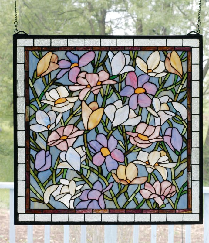 Meyda Tiffany 66278 Stained Glass Tiffany Window from the Magnolia