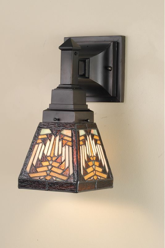 Meyda Tiffany 66524 Stained Glass / Tiffany Down Lighting Wall Sconce