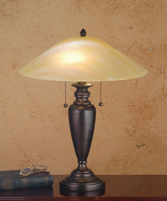 Meyda Tiffany 66753 Table Lamp from the Craftsman Deco Collection