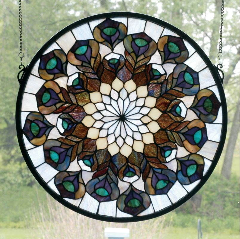 Meyda Tiffany 66805 Stained Glass Tiffany Window from the Peacocks