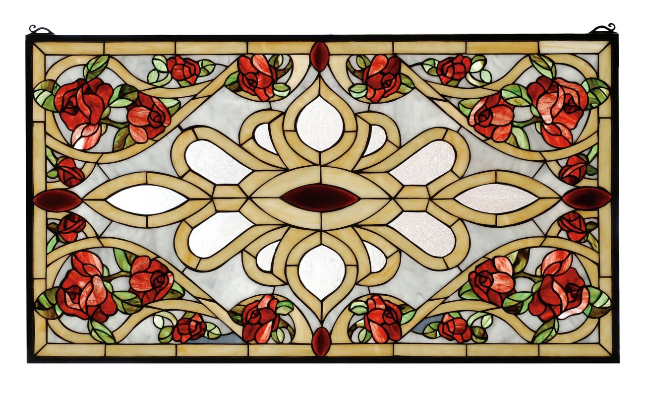 Meyda Tiffany 67139 Stained Glass Tiffany Window from the Red Roses