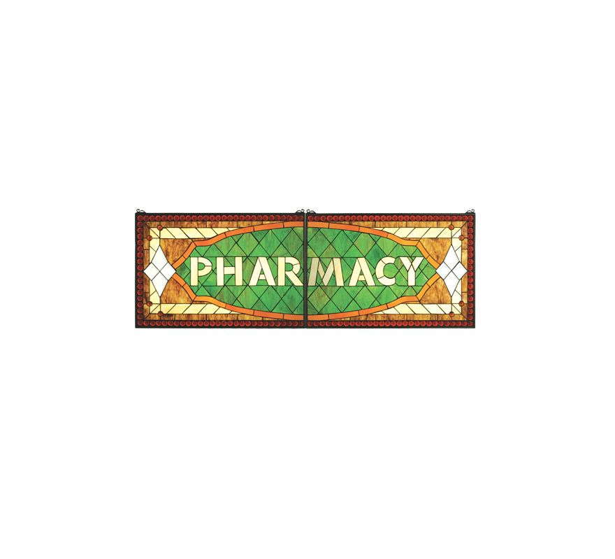 Meyda Tiffany 67399 Tiffany Horizontal Stained Glass Sign from the