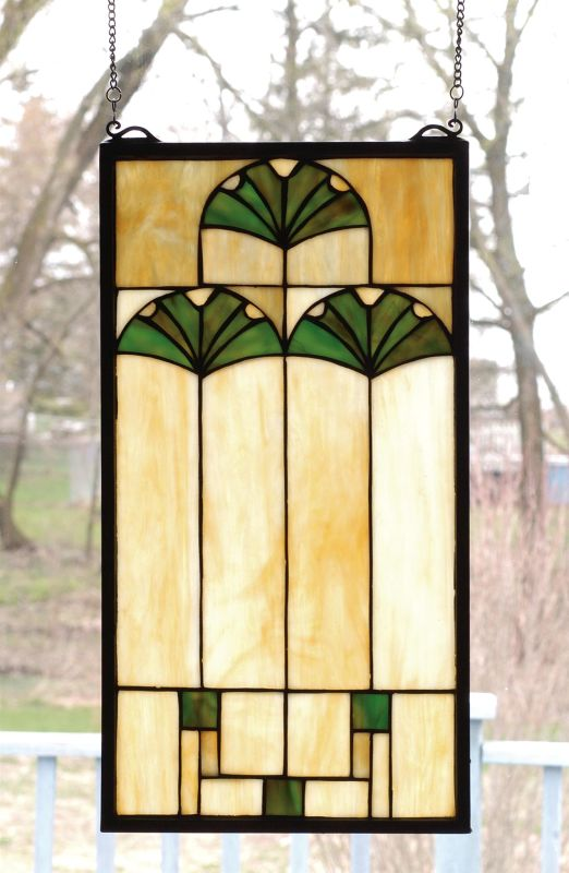 Meyda Tiffany 67787 Stained Glass Tiffany Window from the Ginko Sale $127.80 ITEM: bci93609 ID#:67787 UPC: 705696677870 :