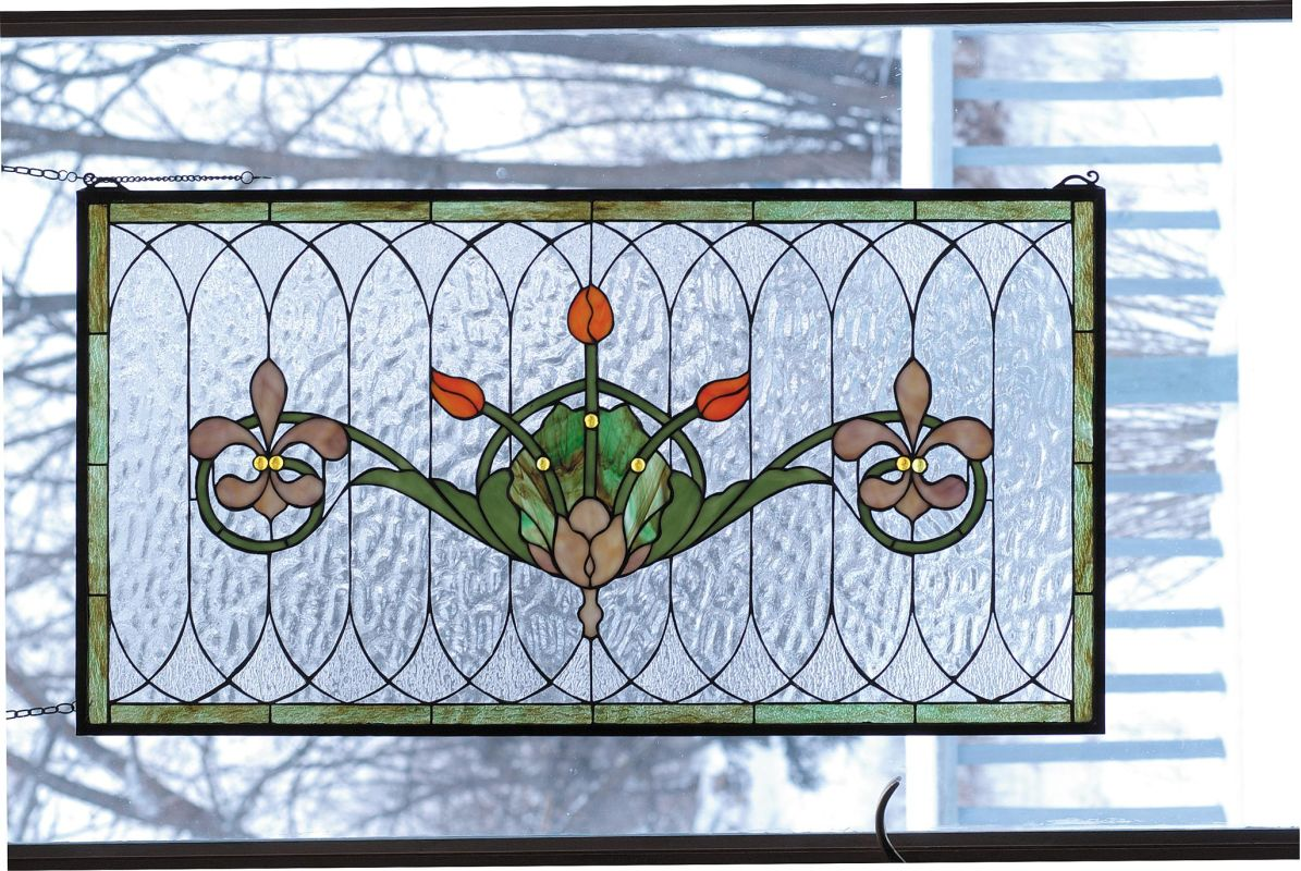 Meyda Tiffany 68018 Stained Glass Tiffany Window from the Arts &