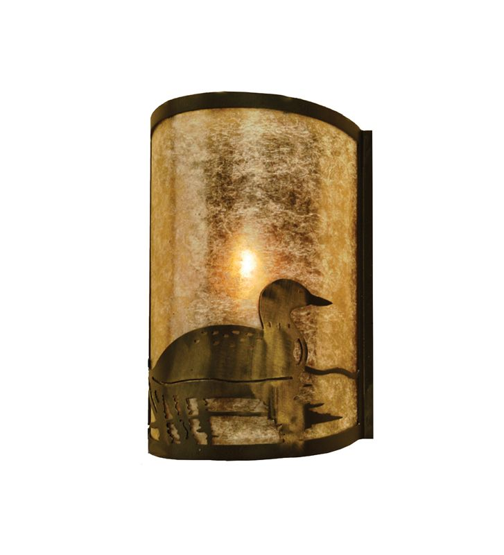 "Meyda Tiffany 68173 8"" Wide Single Light Wall Sconce with Mica Glass"