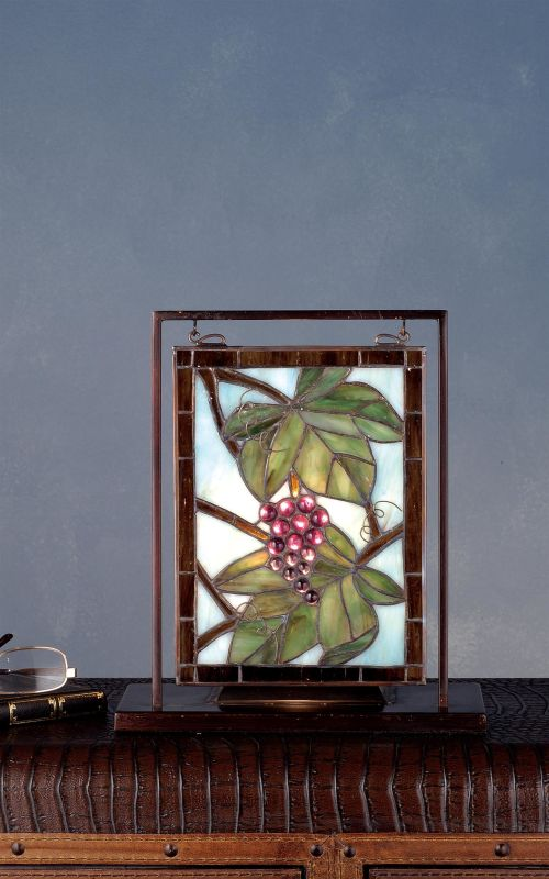 Meyda Tiffany 68352 Stained Glass Tiffany Window from the Grapes