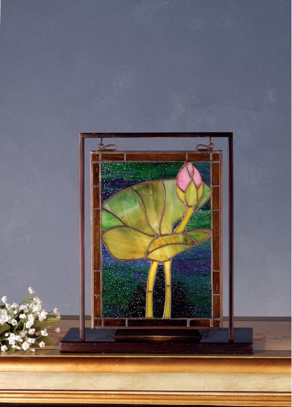 Meyda Tiffany 68353 Stained Glass Tiffany Window from the Pond Lily