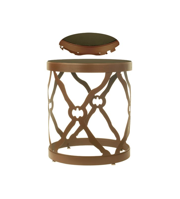 Meyda Tiffany 68395 Metal/Stone Accent Table Furniture End Tables