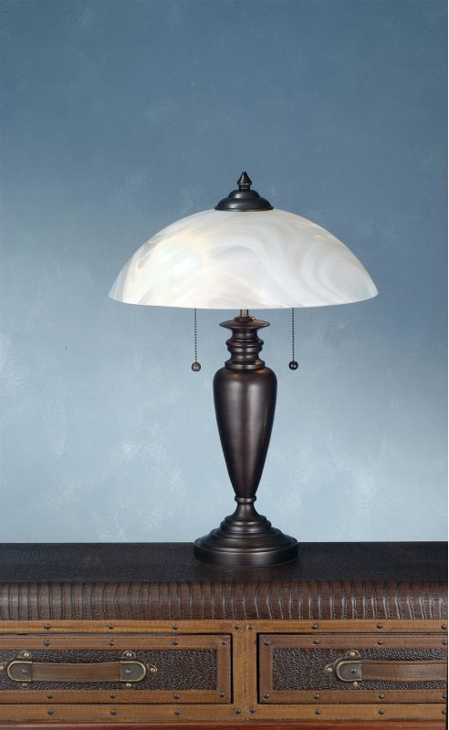 Meyda Tiffany 70408 Table Lamp from the Metro Line Collection