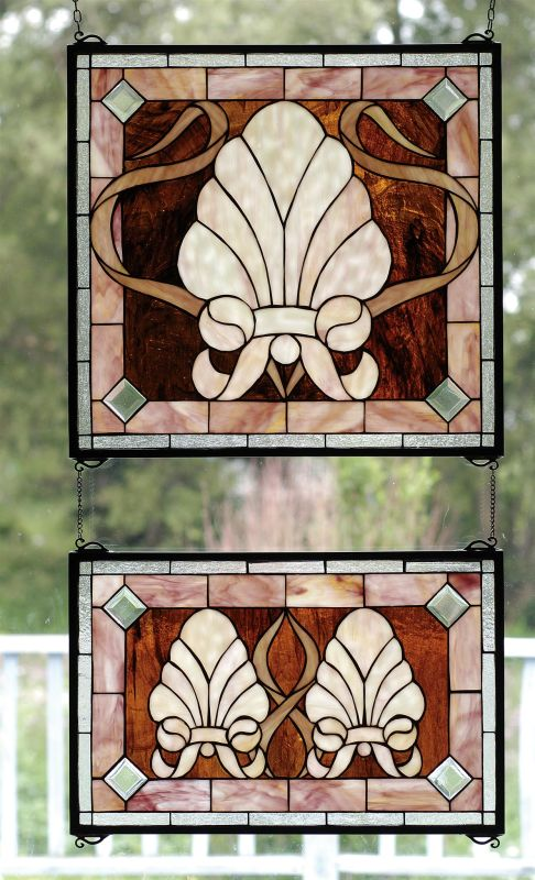 Meyda Tiffany 71270 Stained Glass Tiffany Window from the Seashore