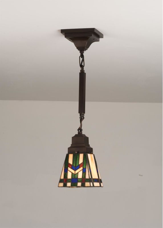 Meyda Tiffany 71618 Stained Glass / Tiffany Single Light Mini Pendant