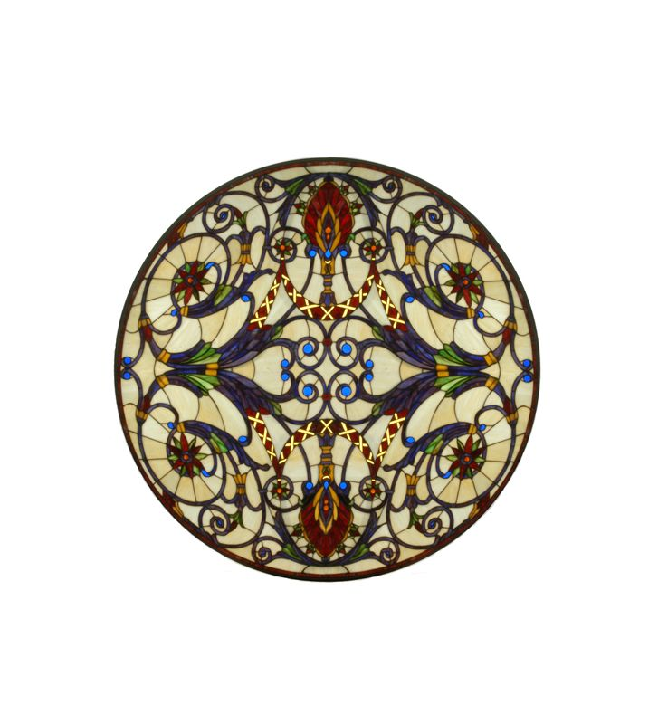 Meyda Tiffany 71886 Tiffany Round Stained Glass Window Pane from the