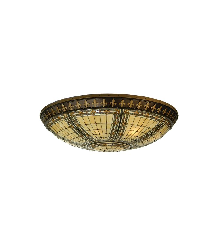 Meyda Tiffany 72212 Tiffany Twelve Light Flush mount Ceiling Fixture