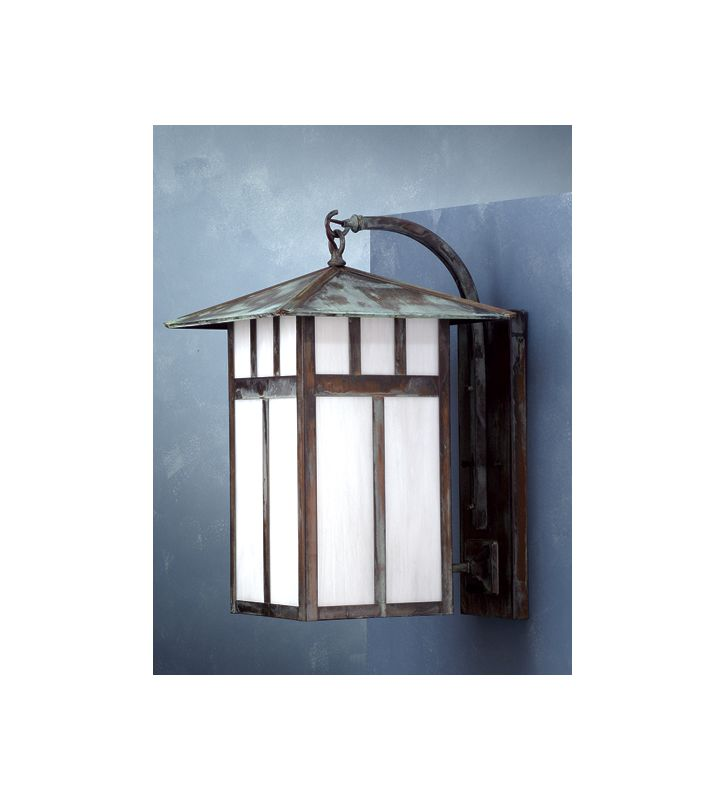Meyda Tiffany 72462 Single Light Outdoor Wall Sconce Verdigris Outdoor