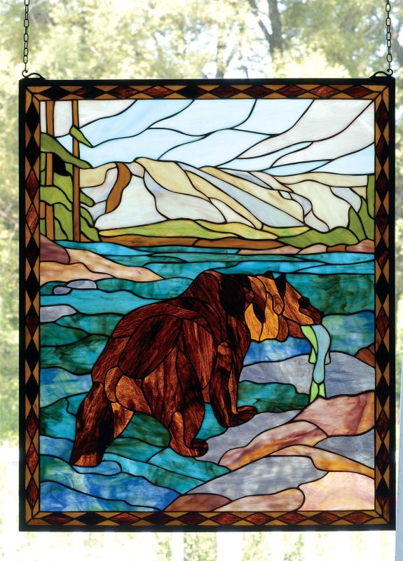 Meyda Tiffany 72934 Tiffany Window from the Deer & Bear Collection