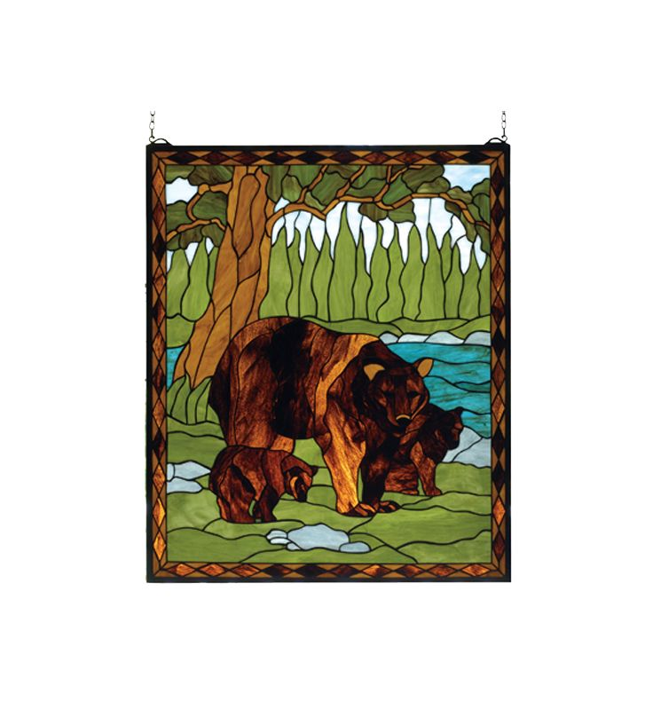 Meyda Tiffany 72935 Tiffany Window from the Deer & Bear Collection