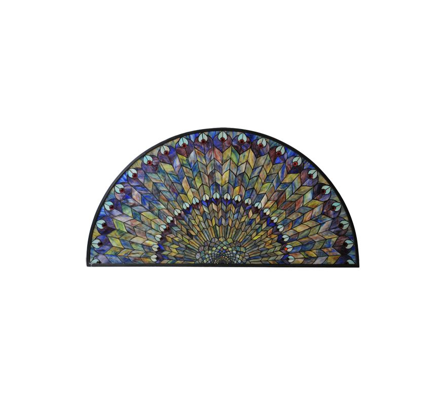 Meyda Tiffany 73005 Tiffany Half Round Stained Glass Window Pain from