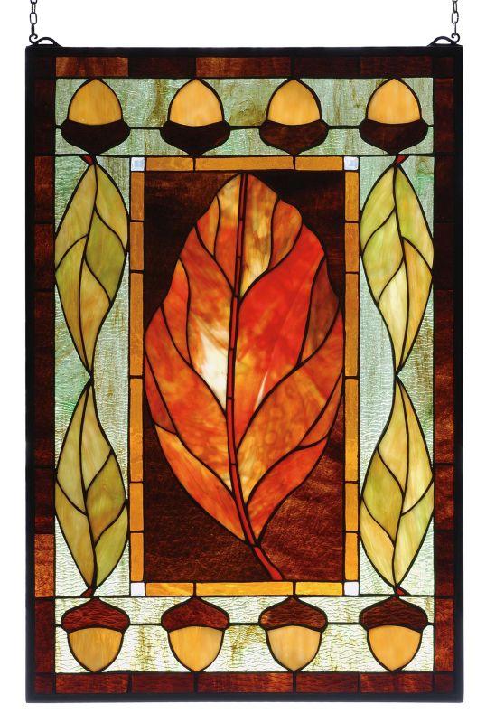 Meyda Tiffany 73207 Stained Glass Tiffany Window from the Acorns
