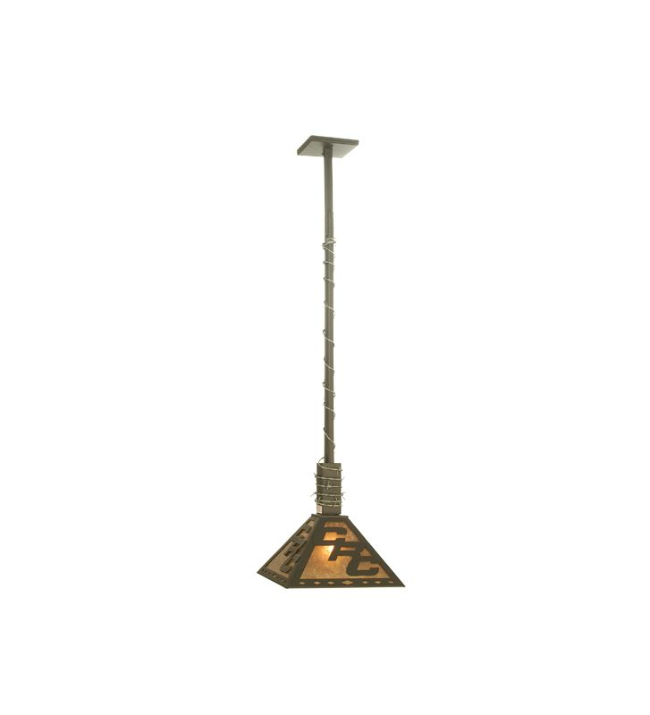 Meyda Tiffany 73484 Single Light Down Lighting Pendant Wrought Iron