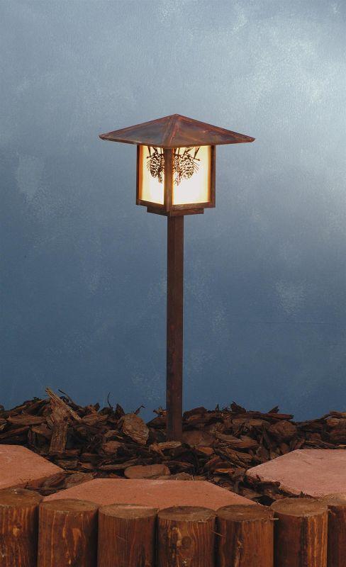 Meyda Tiffany 73491 Single Light Post Light Vintage Copper Outdoor