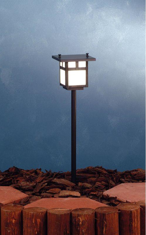 Meyda Tiffany 73546 Single Light Post Light Craftsman Brown Outdoor