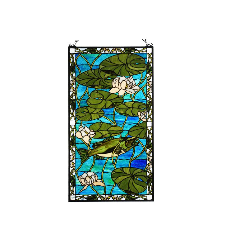 Meyda Tiffany 73629 Tiffany Stained Glass Rectangular Window Pane from
