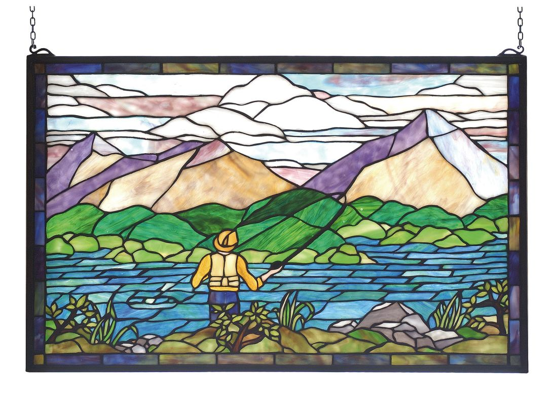 Meyda Tiffany 73649 Stained Glass Tiffany Window from the Sportsman