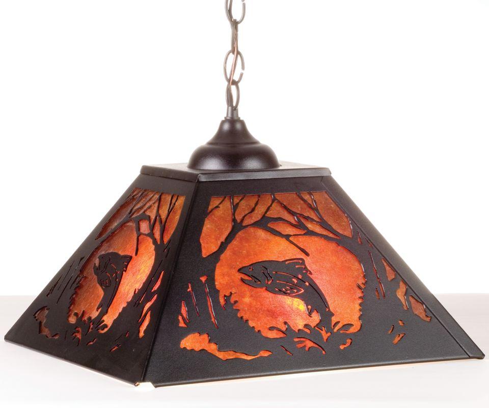 Meyda Tiffany 74031 Two Light Down Lighting Pendant Black Indoor