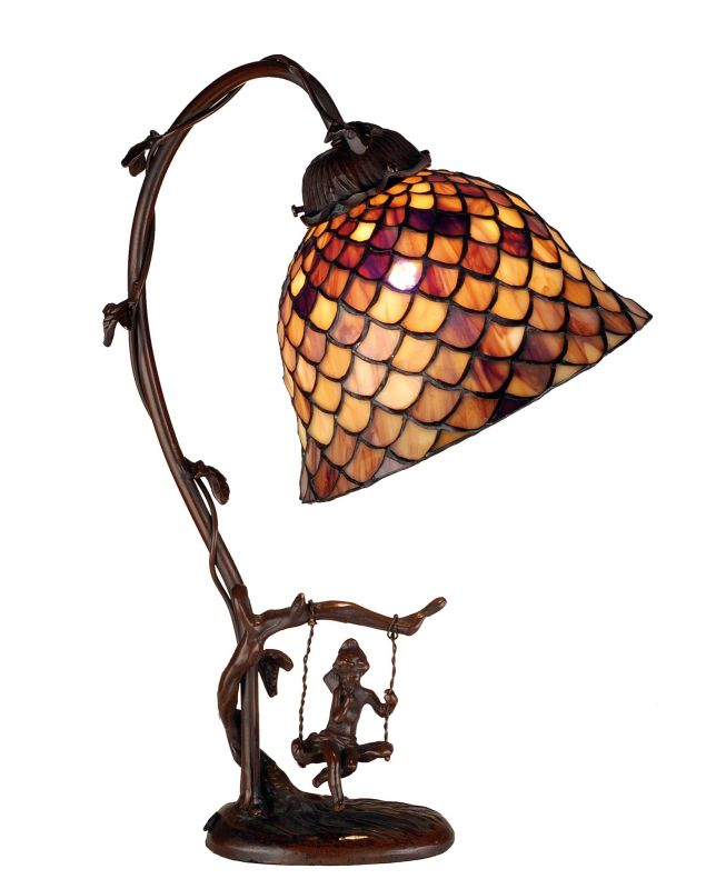 Meyda Tiffany 74046 Stained Glass / Tiffany Accent Desk Lamp from the