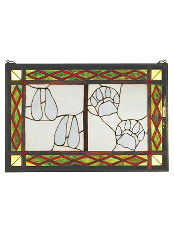 Meyda Tiffany 74144 Tiffany Rectangular Stained Glass Window Pane from