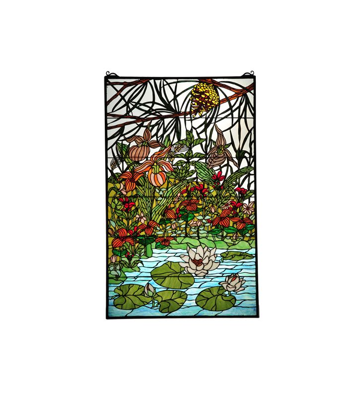 Meyda Tiffany 77661 Tiffany Rectangular Stained Glass Window Pane from