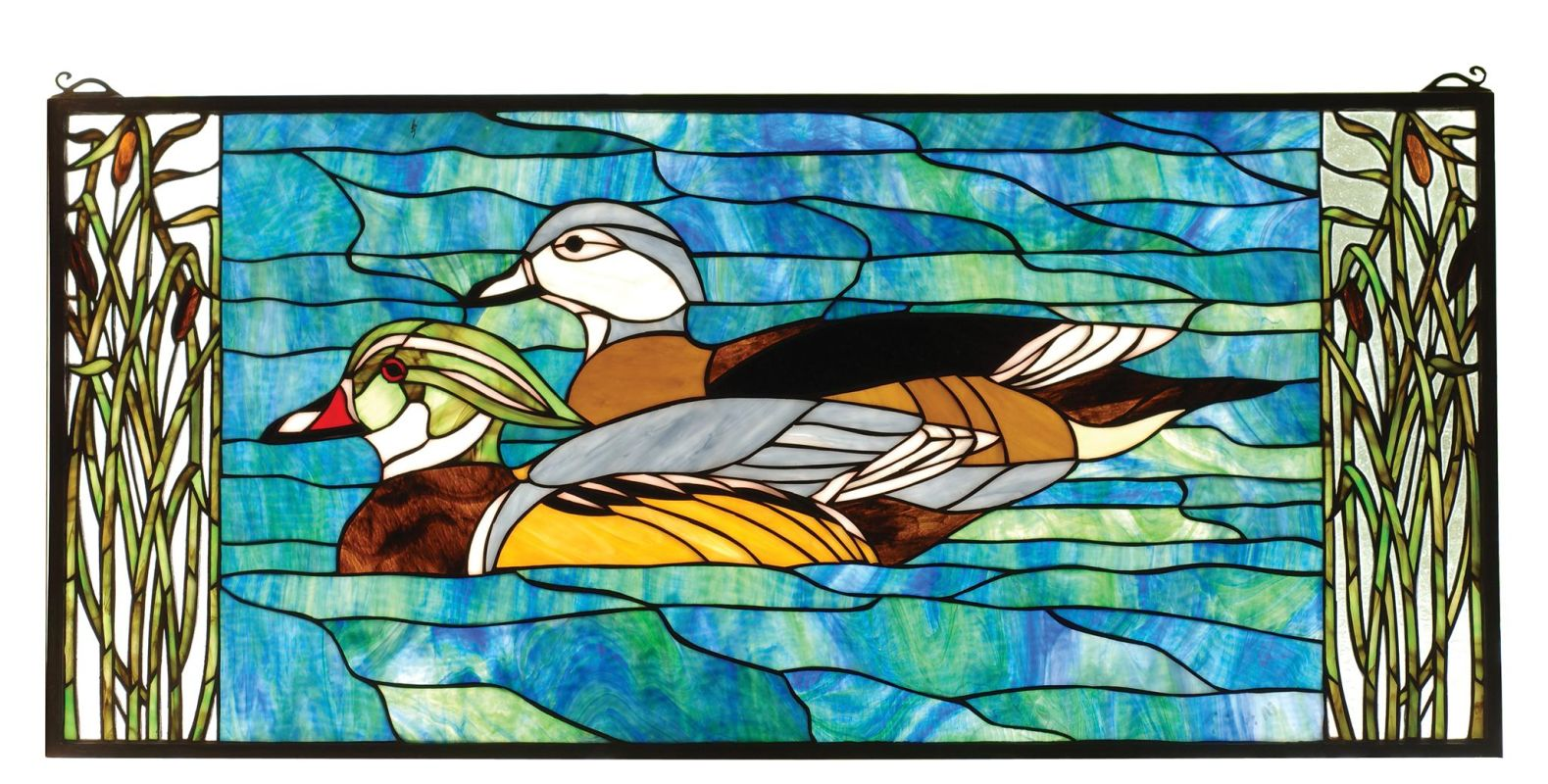 Meyda Tiffany 77712 Stained Glass Tiffany Window from the Sportsman