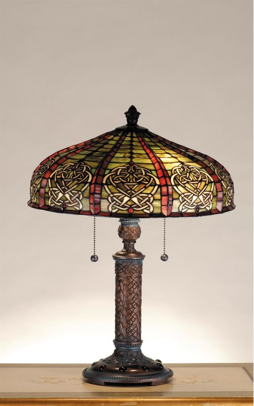 Meyda Tiffany 77761 Stained Glass / Tiffany Accent Table Lamp from the