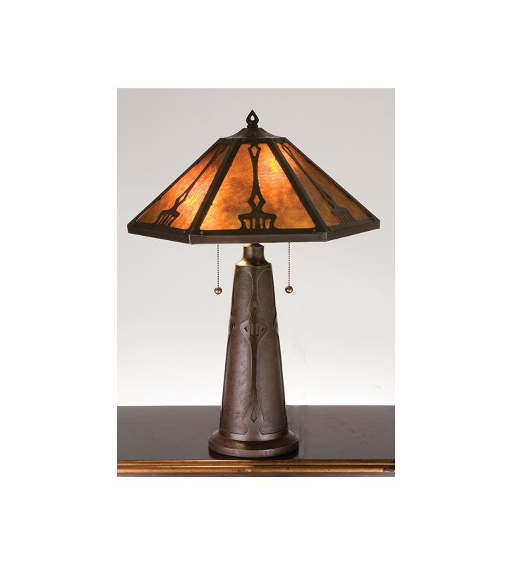 Meyda Tiffany 78067 Craftsman / Mission Accent Table Lamp from the