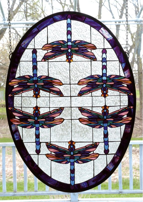 Meyda Tiffany 78087 Stained Glass Tiffany Window from the Dragonflies Sale $473.40 ITEM: bci102348 ID#:78087 UPC: 705696780877 :
