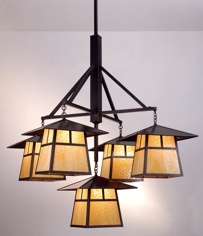 Meyda Tiffany 79730 Five Light Chandelier from the Stillwater