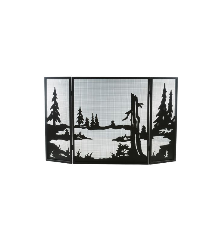 Meyda Tiffany 81150 Fire Place Screen from the Quiet Pond Collection