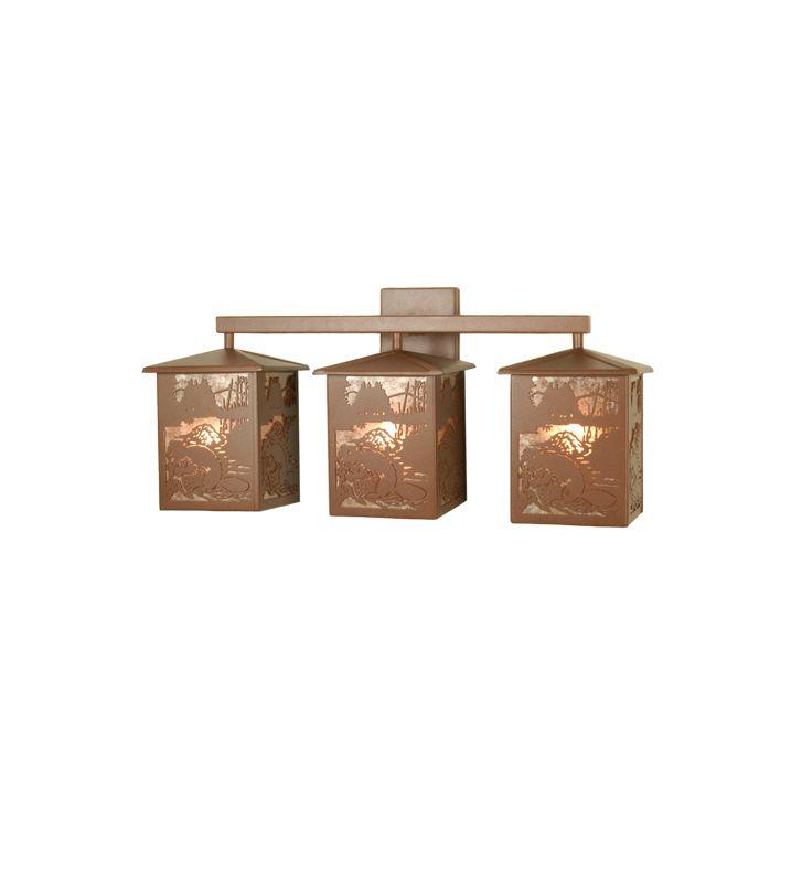 "Meyda Tiffany 81497 Three Light Down Lighting 24"" Wide Bathroom"